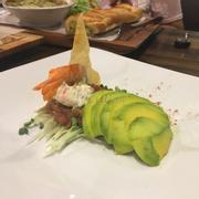 tiger prawn w avocado