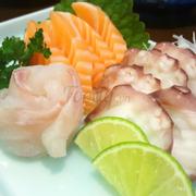 sashimi cá hồi - cá trắng - bạch tuộc
