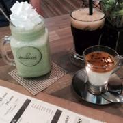 Iced coffe / Panna cotta / Green Tea