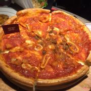 pizza nhân thịt bò nhồi phomai