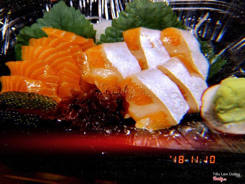 sashimi bụng cá hồi, cá hồi