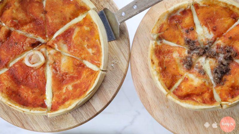 Pizza nhân nhồi phô mai