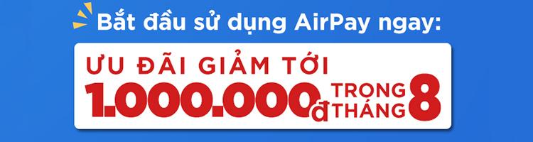 AirPay tháng 8