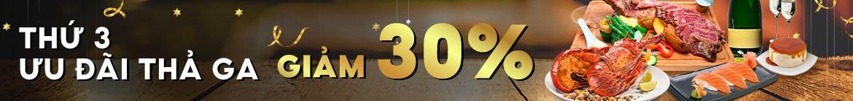THỨ 3 - DEAL THẢ GA - GIẢM 30%