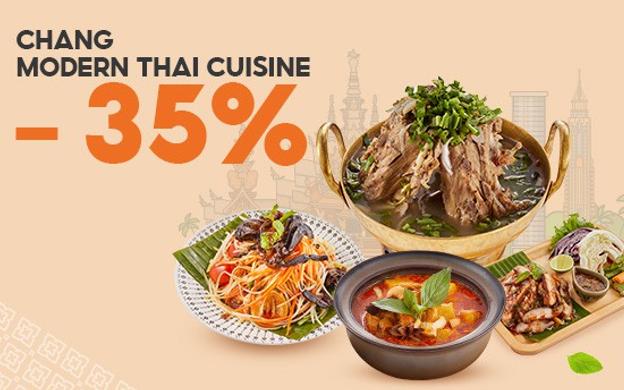 GIẢM 35% - CHANG - MODERN THAI CUISINE