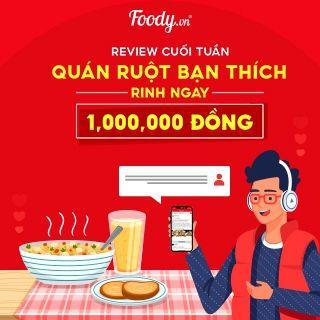 Review Cuối Tuần Quán Ruột Bạn Thích Rinh Ngay 1.000.000 ĐỒNG