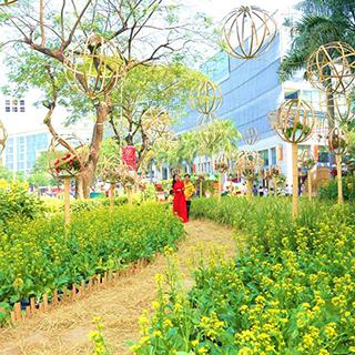 Cận cảnh làng hoa tết mini mở cửa free mới xuất hiện ngay SG