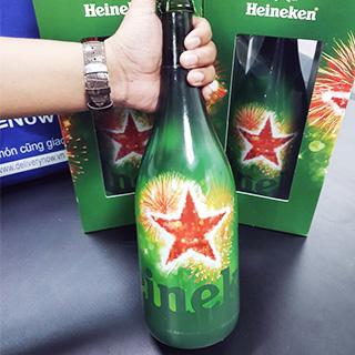 """Cận Cảnh Màn Đập Hộp chai """"HEINEKEN MAGNUM"""" Hà Lan 1,5l khổng lồ, đẹp lịm tim"""