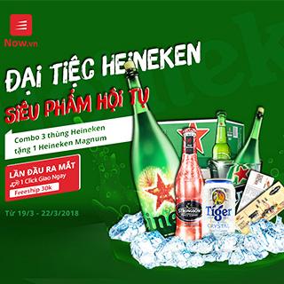 ĐẠI TIỆC HEINEKEN Cơ Hội Khủng Rinh Siêu Phẩm Heineken Magnum Miễn Phí