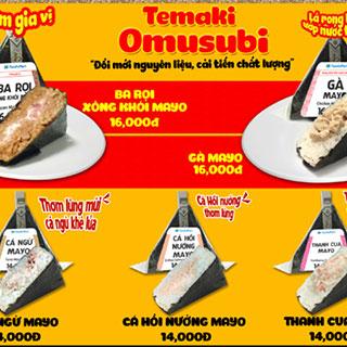 Thưởng thức Temaki Omusubi hương vị Nhật Bản tại FamilyMart
