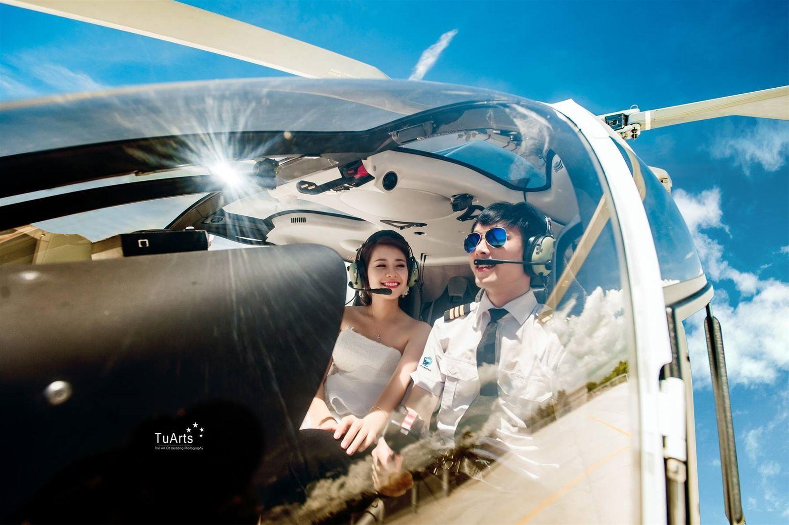 Bộ ảnh cưới cực chất của phi công trẻ