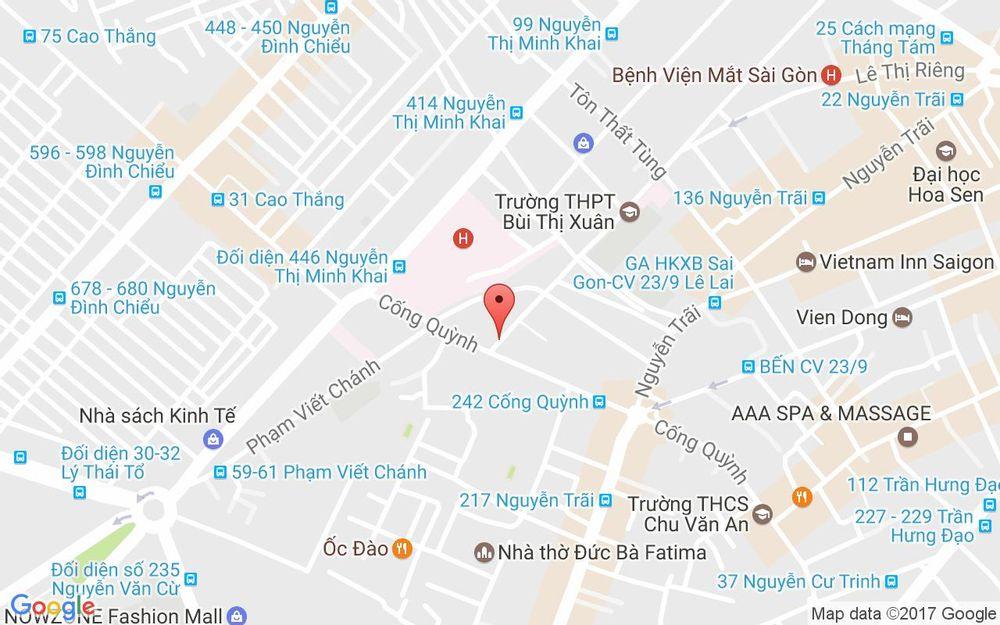 Vị trí bản đồ 111 Bùi Thị Xuân, P. Phạm Ngũ Lão  Quận 1 TP. HCM