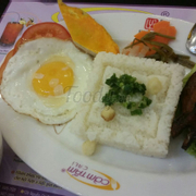 Broken rice with grilled pork ribs