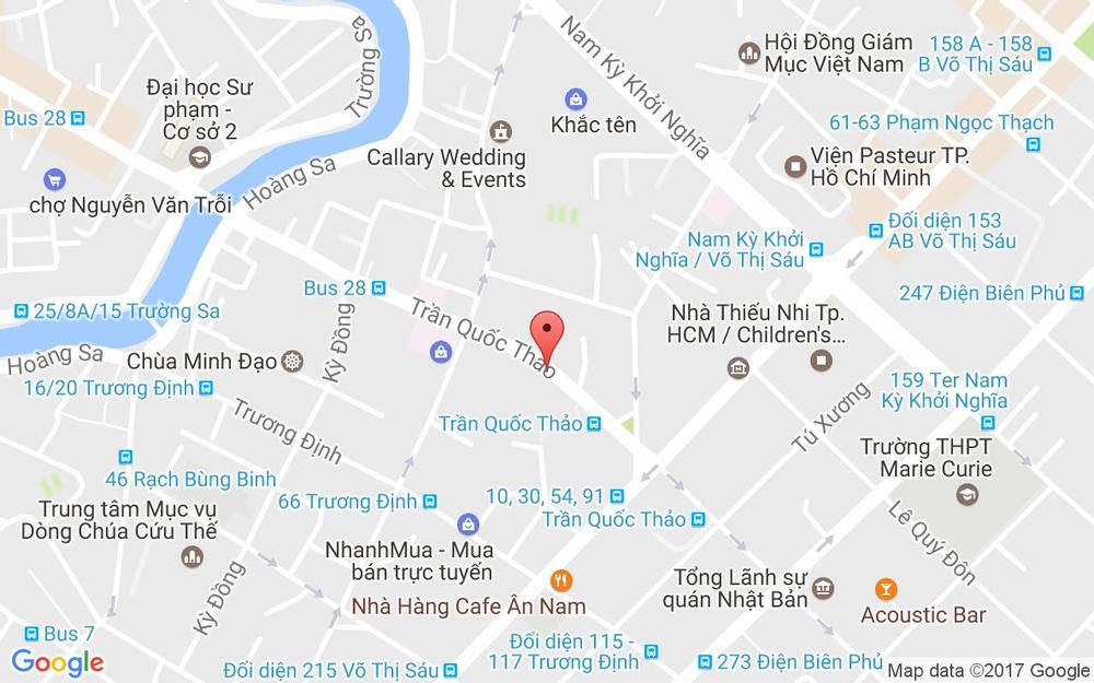 Vị trí bản đồ 123A Trần Quốc Thảo, P. 7 Quận 3 TP. HCM