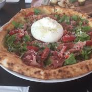 pizza Burrata Prosciutto Margherita