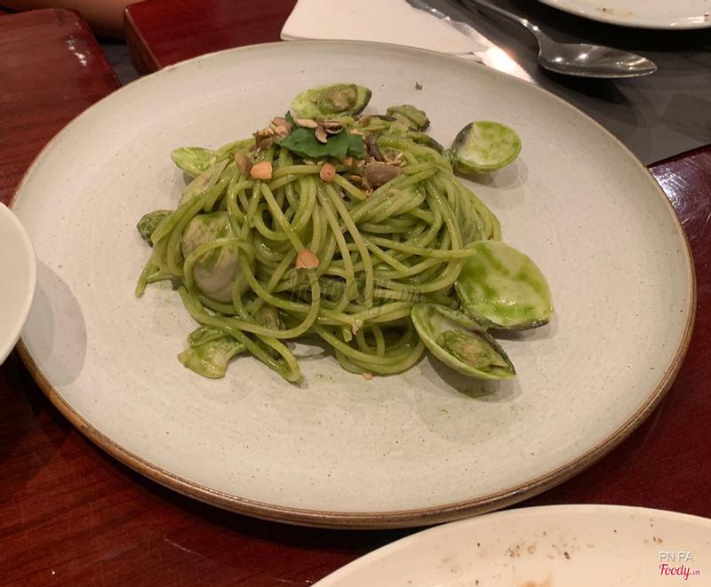 Spaghetti sốt basil