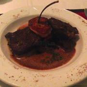 Beef Cheek w/ Foie Gras seared in pan-fry