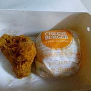 Combo gà + burger