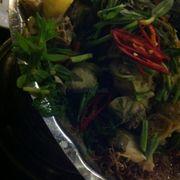 Cá dòn toàn rau