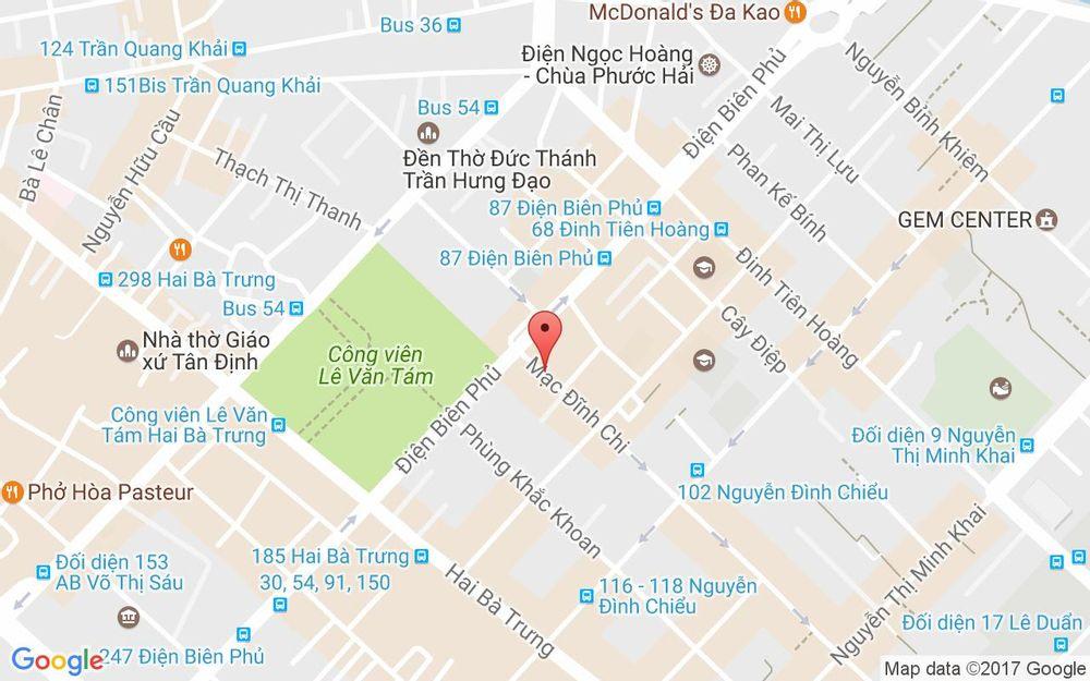Vị trí bản đồ 90 Mạc Đĩnh Chi, P. Đa Kao Quận 1 TP. HCM