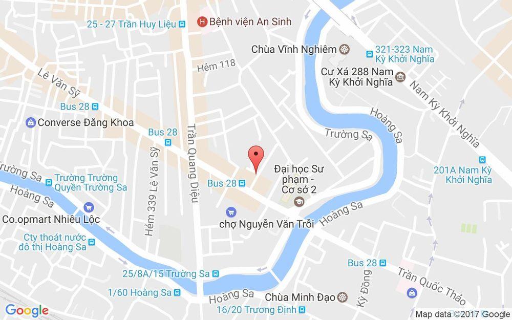 Vị trí bản đồ 284/1 Lê Văn Sỹ, P. 14 Quận 3 TP. HCM