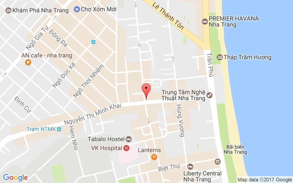 Vị trí bản đồ 46 Nguyễn Thị Minh Khai, P. Lộc Thọ Tp. Nha Trang Khánh Hoà