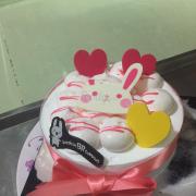 Pink fairy ice cream cake