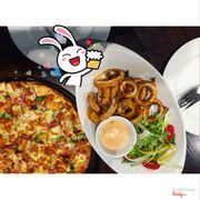 Combo thần thánh: pizza + calamari