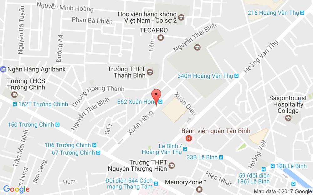 Vị trí bản đồ 139 Xuân Hồng, P.12  Quận Tân Bình TP. HCM