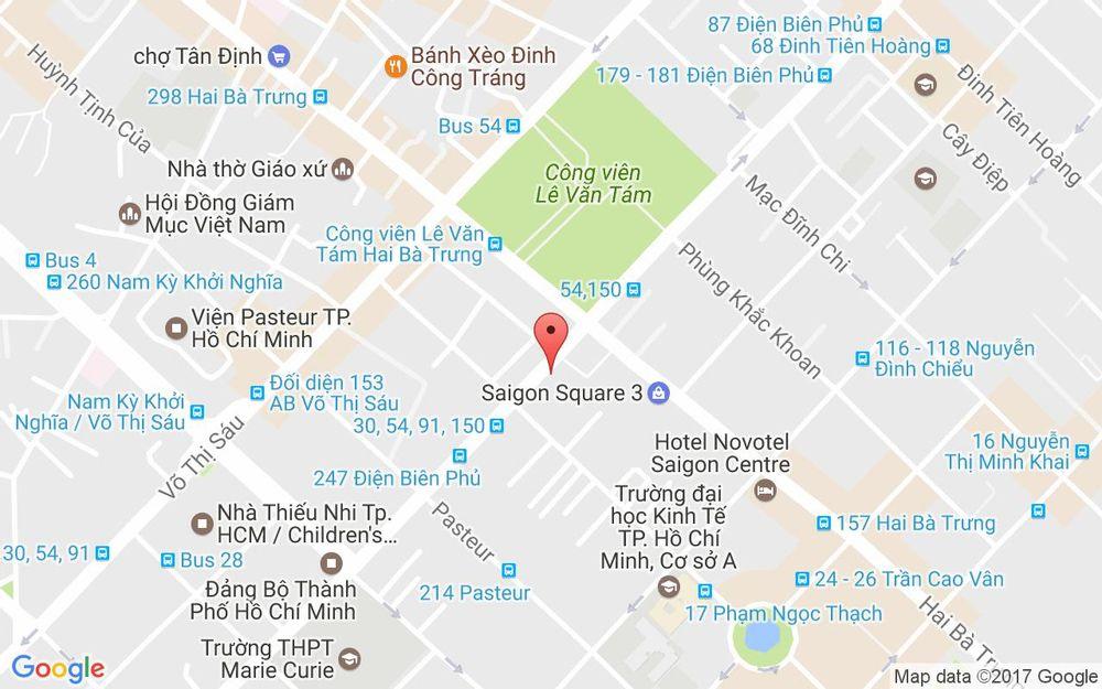 Vị trí bản đồ 199 Điện Biên Phủ, P. 6 Quận 3 TP. HCM