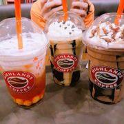 Trà Sen vàng & Caramel Jelly Freeze & Chocolate Freeze