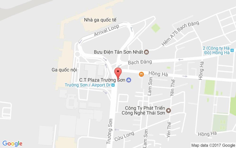 Vị trí bản đồ Parkson CT Plaza, 60A Trường Sơn, P. 2 Quận Tân Bình TP. HCM