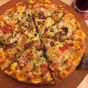 Pizza viền đôi nhìn không hấp dẫn như hình