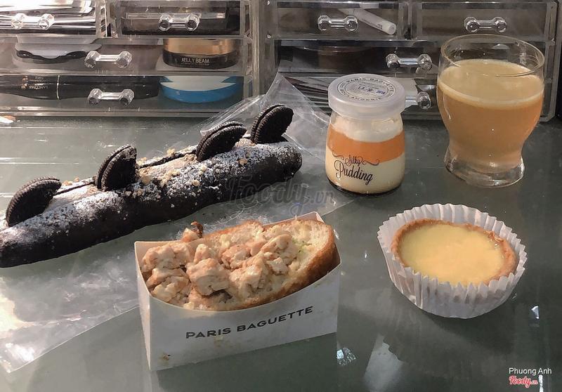 Oreo Boat+Peach Pudding+BBQ Chicken Open Croquette+Egg Tart