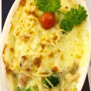pasta hải sản phomai đút lò