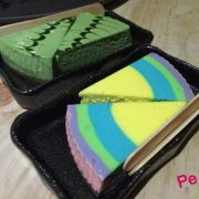 Rainbow - matcha cheese cake