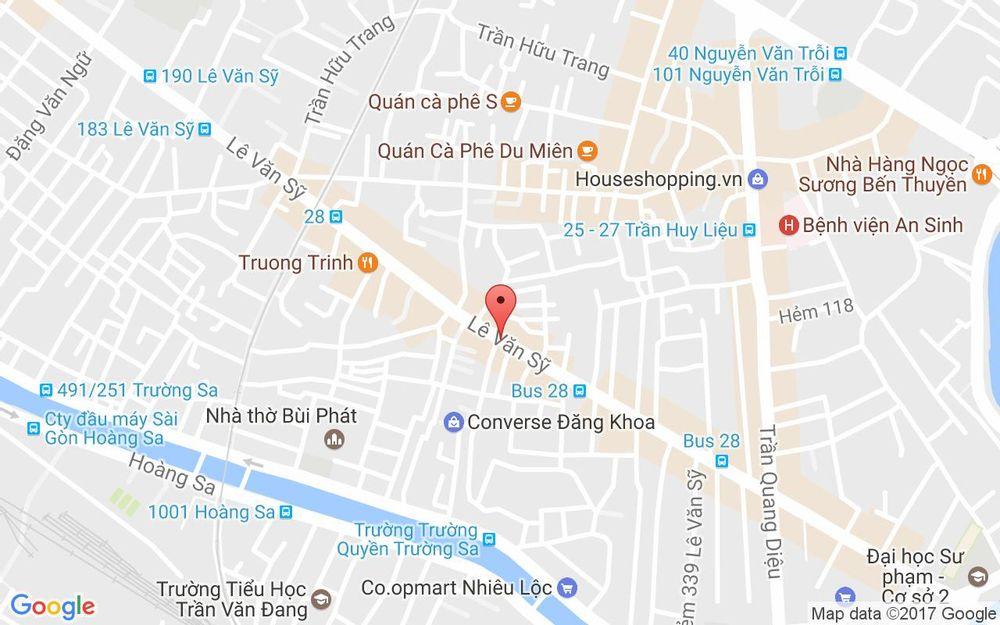 Vị trí bản đồ 514 Lê Văn Sỹ  P.14 Quận 3 TP. HCM