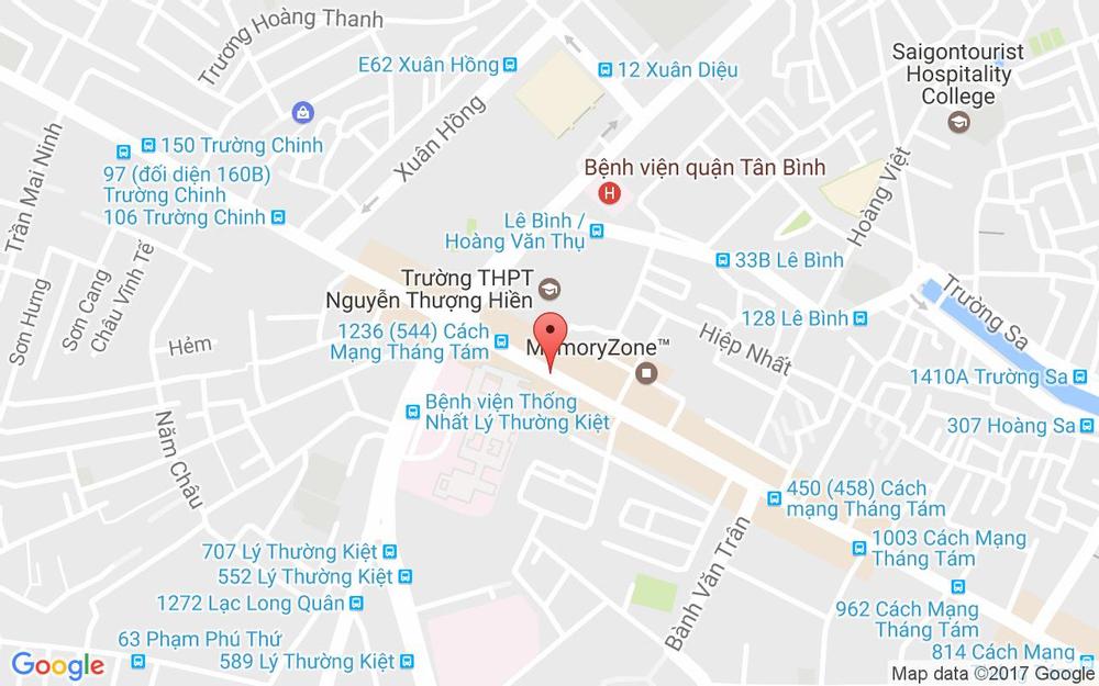 Vị trí bản đồ 1184 Cách Mạng Tháng 8, P. 4 Quận Tân Bình TP. HCM