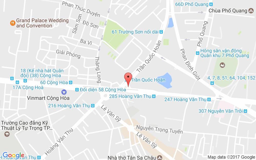 Vị trí bản đồ 293 Hoàng Văn Thụ Quận Tân Bình TP. HCM