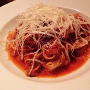 Spaghetti heo+bò bằm sốt cà chua & mascarpone