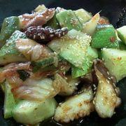 salad kim chi bạch tuộc