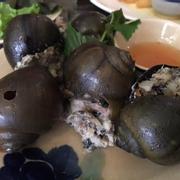 ốc bươu nhồi thịt hấp