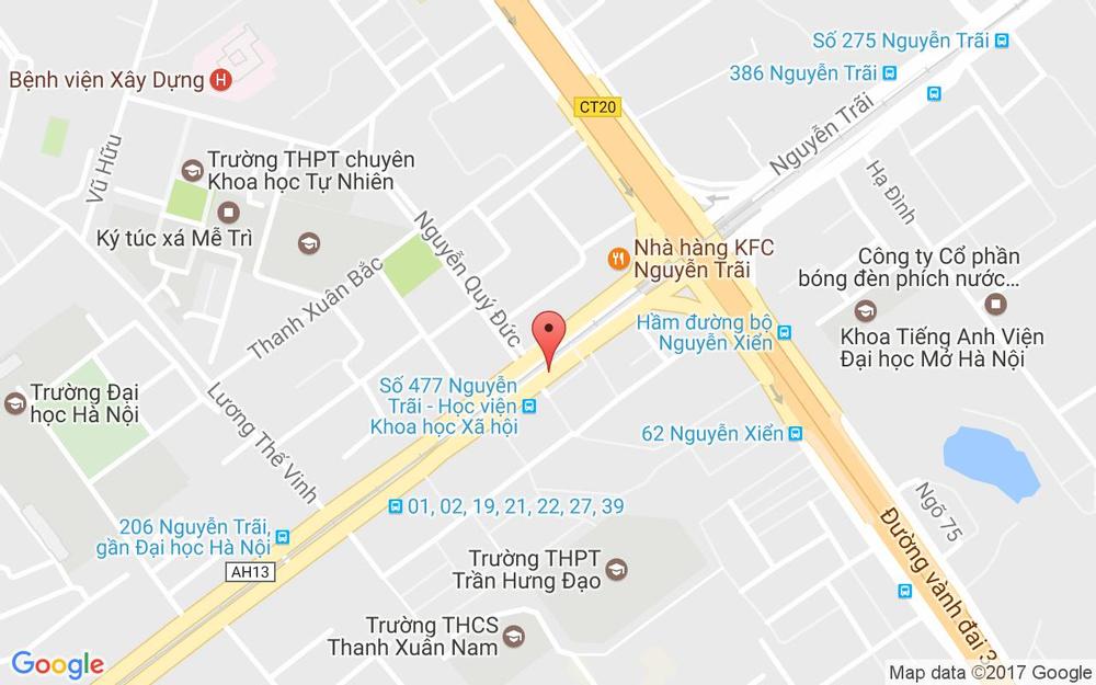 Vị trí bản đồ 19 Nguyễn Trãi Quận Thanh Xuân Hà Nội