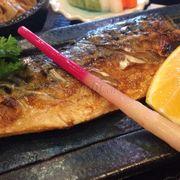 Set lunch cá saba nướng