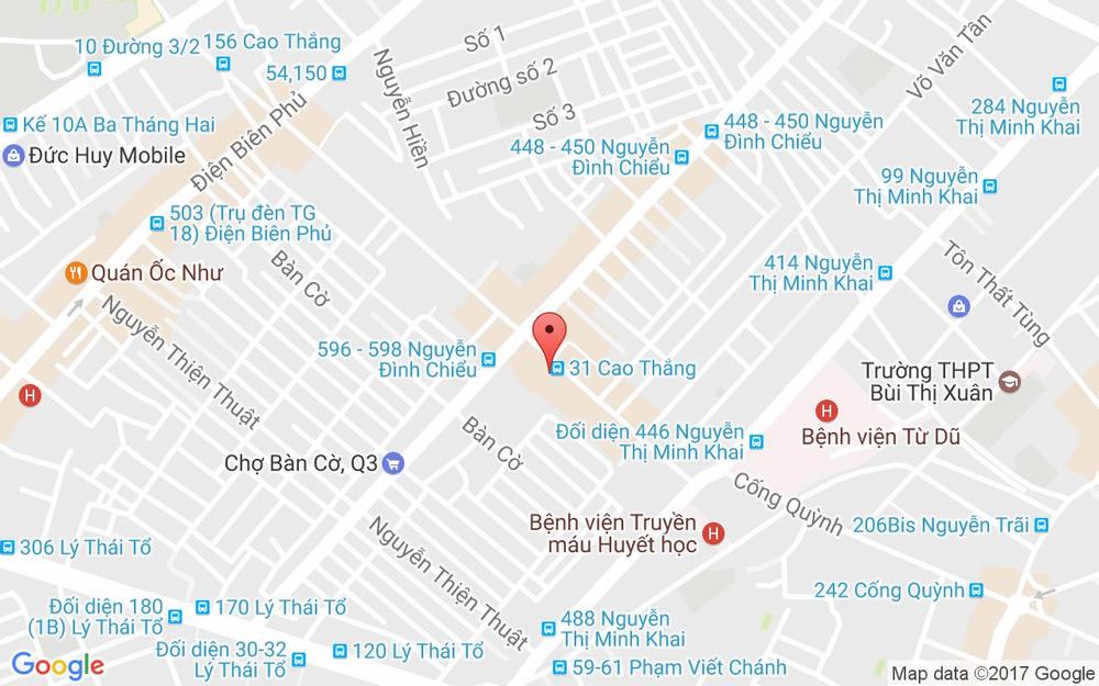 Vị trí bản đồ 31 Cao Thắng, Phường 2 Quận 3 TP. HCM