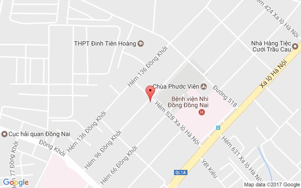 Vị trí bản đồ Trúc Nguyên Cafe ở Đồng Nai