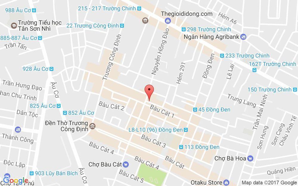 Vị trí bản đồ 106 Nguyễn Hồng Đào,  P. 14 Quận Tân Bình TP. HCM