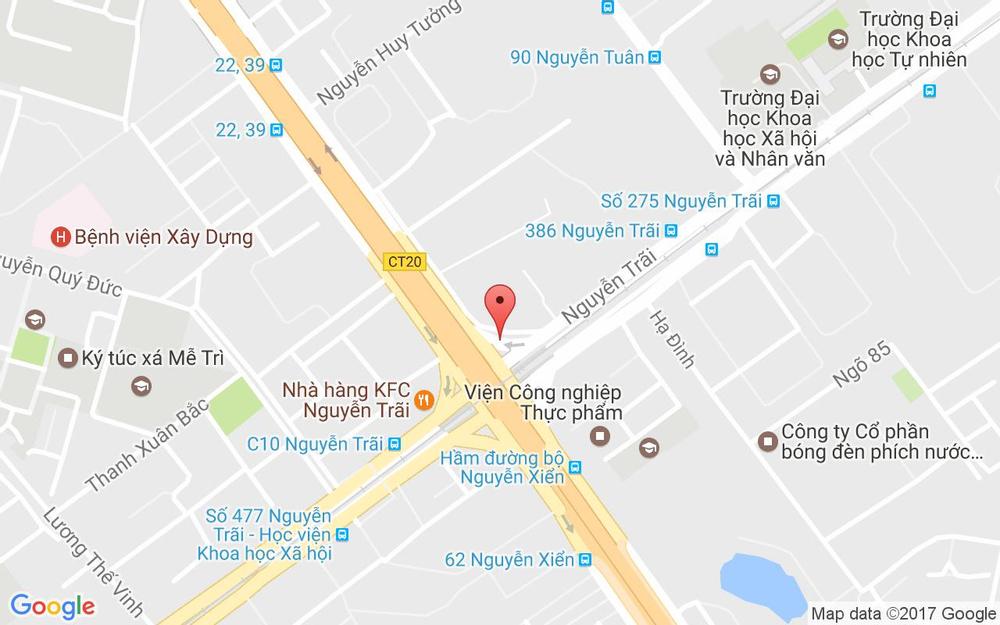 Vị trí bản đồ C7 Thanh Xuân Bắc Quận Thanh Xuân Hà Nội