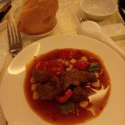 Bò sốt Bạch Kim và bánh mì