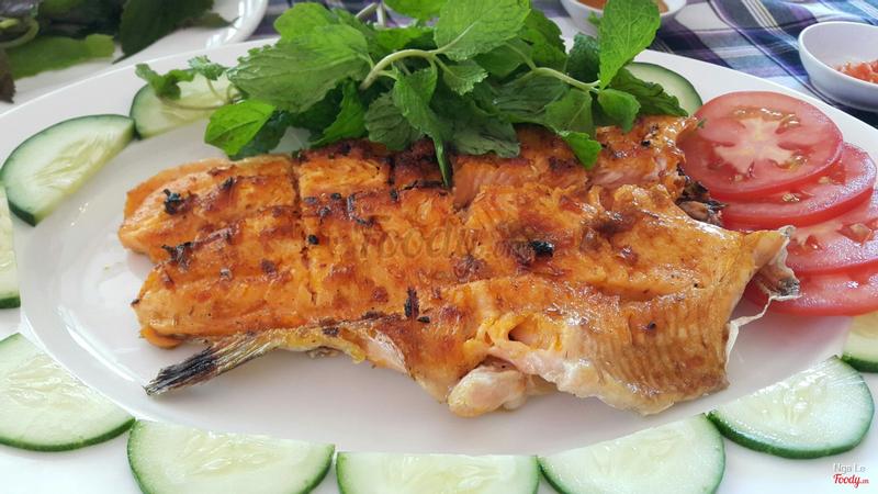 cá hồi nướng